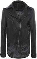 Giorgio Brato Tail Leather Biker Jacket - Lyst
