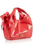 Valentino Bowembellished Patentleather Tote - Lyst