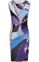 Emilio Pucci Astana Ruched Dress - Lyst