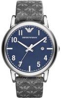Emporio Armani Mens Matte Gray Eagle Print Strap Watch 41mm - Lyst