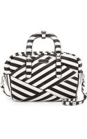 Marc By Marc Jacobs Turn Around Striped Satchel Bag - Lyst