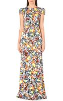 Erdem Aurelia Floral Print Silk Gown - Lyst