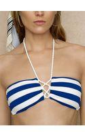 Ralph Lauren Blue Label Capri Striped Laced Halter - Lyst