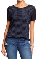 Old Navy Houndstooth Tops - Lyst