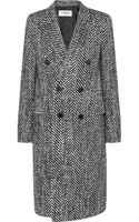 Saint Laurent Wool and Mohairblend Tweed Coat - Lyst