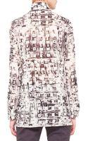 Akris Abstractprint Mockneck Tunic - Lyst