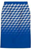 Antonio Berardi Jacquard Pencil Skirt - Lyst