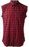 Diesel Sneha Sleeveless Tartan Shirt - Lyst