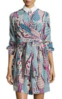 M Missoni Silk Button-front Shirtdress - Lyst