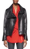 Helmut Lang Shawl-collar Leather Jacket - Lyst