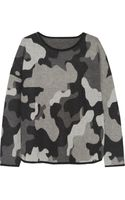 Banjo & Matilda Camouflage Intarsia Cashmere Sweater - Lyst