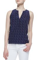 Joie Aruna Playing Cards Silk Printed Tank Top - Lyst