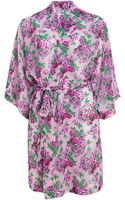 Forever 21 Floral Chiffon Robe - Lyst