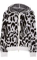 Baja East Leopard-patterned Cashmere Hooded Top - Lyst