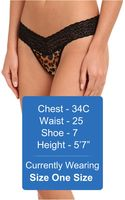 Hanky Panky Leopard Mesh Low Rise Thong - Lyst