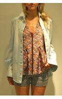 Roseanna Young Bleach Denim Shirt - Lyst