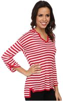 Calvin Klein Striped Hood Sweater - Lyst