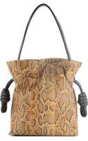 Loewe Python Skin Drawstring Bag - Lyst
