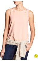 Banana Republic Factory Cut-out Shoulder Top  Tutu Pink - Lyst