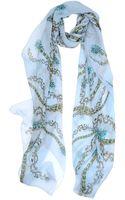 Roberto Cavalli Printed Silk Stole - Lyst