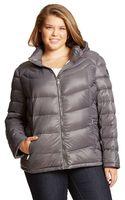Calvin Klein Zip Front Packable Down Jacket - Lyst