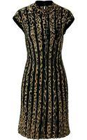Roberto Cavalli Intarsia Knit Leopard Print Dress - Lyst