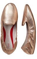 Gap Metallic Scrunch Leather Loafers - Lyst
