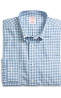Brooks Brothers Non-iron Regular Fit Twin Check Sport Shirt - Lyst