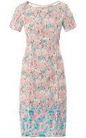 Nina Ricci Floral Print Lace Dress - Lyst