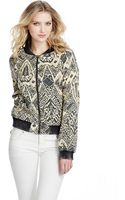 Free People Printed Quilted Bomber - Lyst