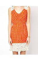 Traffic People Katie Print Pleated Dress - Lyst