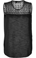 The Kooples Embroidered Sheer Top Tank - Lyst