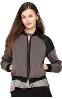 T Tahari Flynn Faux Leather Jacket - Lyst