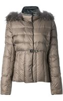 Fay Racoon Furtrim Padded Coat - Lyst
