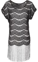 Jane Norman Fringe Lace Tunic Top - Lyst