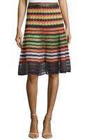 M Missoni Mixed-knit Flared Skirt - Lyst