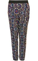 Topshop Kaleidoscope Jersey Tapered Trousers - Lyst