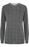 MICHAEL Michael Kors Sparkle Herringbone Sweater - Lyst