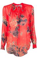 Raquel Allegra Red Tie Dye Blouse - Lyst