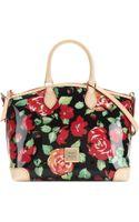 Dooney & Bourke Floral Satchel - Lyst