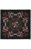 Givenchy Floral Bouquet Woollen Scarf - Lyst