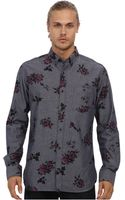French Connection Doleful Floral Print Ls Shirt - Lyst