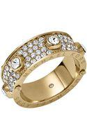 Michael Kors Goldtone Crystallized Astor Ring - Lyst