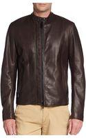 Belstaff Holbrook Leather Moto Jacket - Lyst