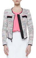Milly Solidtrim Tweed Jacket - Lyst