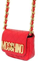 Moschino Quilted Nappa Leather Micro Shoulder Bag - Lyst