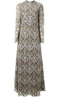 Valentino Baroque Jacquard Dress - Lyst