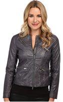 Calvin Klein Jeans Garment Dyed Pu Biker Jacket - Lyst
