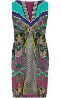 Etro Printed Crepe Dress - Lyst