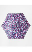 Lulu Guinness Tiny Pop Art Lips Blue Umbrella - Lyst
